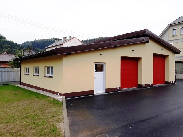Výstavba nových garáží a potřebných prostor pro činnost JSDH Města Hanušovice
